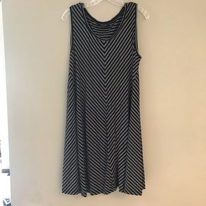 Style & Co. Black and Grey Striped Dress